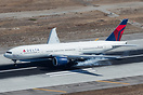 Smooth touchdown for the Delta Spirit at LAX.