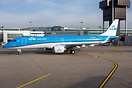 Latest addition in the KLM fleet wearing the new livery.