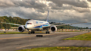 The first customer painted Boeing 787-9 Dreamliner preparing for a wee...