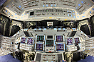 "Space Shuttle Orbiter ""Atlantis"" cockpit post flight."