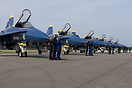 The 2014 US Navy Blue Angels Flight Demonstration Team.