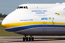 A tight taxiway turn for the world's largest aircraft