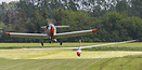 OY-DHP - Danish-constructed Polyt V glider towing plane - and OY-BXK -...