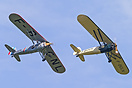 Morane-Saulnier MS-317 F-BCNL in formation with F-BGUV