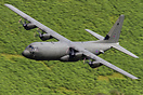 RAF Lockheed  C-130J-30 Hercules C4 ZH879 on a low level sortie throug...