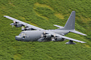 USAF Lockheed MC-130H Hercules 88-1803 on a low level sortie through t...