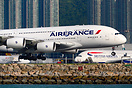 The mismatching Air France logo is the result of a spare upper deck R1...