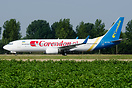 Corendon Dutch Airlines have leased this Ukraine International Boeing ...