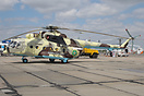 Mi-171Sh 17 yellow of the Kazakhstan Border Guard, note the different ...