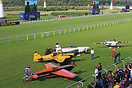 The final four competitors left in the Red Bull Air Race at Ascot.