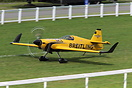 Britain's Nigel Lamb landing at Ascot after finishing second in the Re...