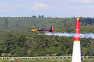 Kirby Chambliss in his Edge 540 during the Red Bull Air Race at Ascot.