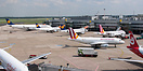 Overview of terminal A with  D-AIZK (A320) D-AIGV (A340) D-AIPU (A320)...