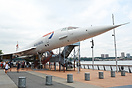 This Concorde is on loan from British Airways and is on display on the...