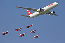 This Swiss International Air Lines Airbus A330 performed with the Patr...