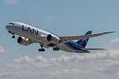 Delivery climb-out for LAN Airlines Boeing 787-8 Dreamliner CC-BBH C/N...