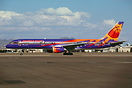 Boeing 757-225 with special Phoenix Suns basketball team colors