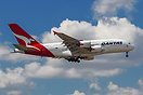 The first Qantas A380 flight into DFW commemorated by special decals. ...
