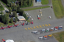An aerial view of Talkeetna Airport.
