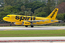 The new livery Spirit Airlines aircraft (sole Spirit aircraft in this ...