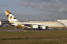 The first A380 of Etihad in full livery.