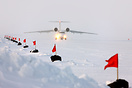 Barneo Ice Camp temporary runway which is built at the end of each Mar...