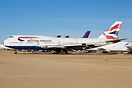 A broken up British Airways Boeing 747