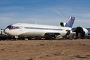 A broken up Delta Air Lines Boeing 727 at Victorville airport