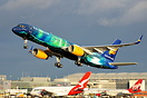 Icelandair 757 TF-FIU painted in the Northern Lights special scheme na...