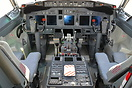 Cockpit view inside the P-8 Poseidon 168434 at the NAS Jacksonville Ai...