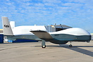 Northrop Grumman MQ-4C Triton belonging to the US Navy in the static a...