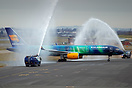 Icelandair's special paint scheme 757 Hekla Aurora operated the inaugu...