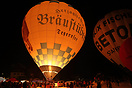 Night glow at Tegernsee Balloon Festival 2015.