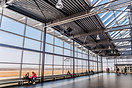 Viewing terrace inside the terminal, which is usually crowded with peo...