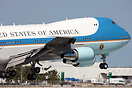 President Obama visits Miami aboard Air Force 1