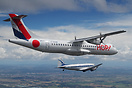 Two propeller airliners flying together. Past and present, both for Ai...