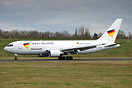 SE-RLA, West Atlantic's first Boeing 767, returns from a test flight p...