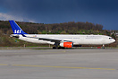 SAS Airbus 330-300 LN-RKM arriving at ZRH for a maintenance visit at S...