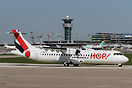 Third day of operation for this brand new ATR 72-600, first of the typ...