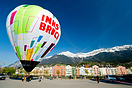 INNS' BRUCK City Baloon in the heart of our city Innsbruck, Marktplatz