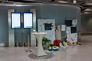 Corner of silence in the airport terminal of Dusseldorf - In memory of...