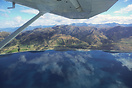 In flight over Lake Wanaka