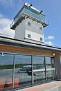 Lands End Airport tower and the small terminal