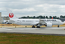 Japan Airlines latest Boeing 787-8 Dreamliner on its first flight perf...