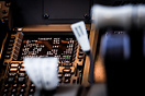 Detailed image of the Boeing 777 Captains CDU. Via the CDU the pilots ...
