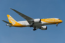 Scoot's first B788, on the delivery flight from Seatlle