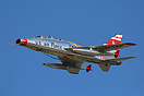 The only flying F-100 Super Sabre in the world performing at EAA AirVe...