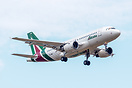 First Airbus A319 with new Alitalia livery