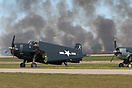 EAA AirVenture 2015 - part of the airshow re-created scenes to commemo...