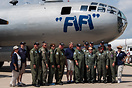 The Commemorative Air Force B-29 Squadron crew in front of Fifi, the w...